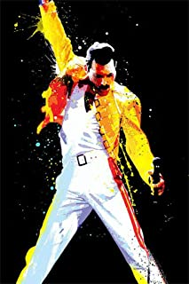 5D DIY Diamond Painting Queen Band Freddie Mercury 12X16 inches Full Round Drill Rhinestone Embroidery for Wall Decoration