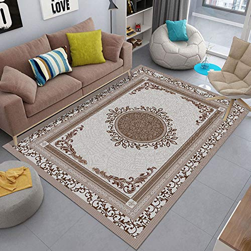 Michance Living Room 3D Carpet, Waterproof, Moisture-Proof, Non-Slip Coffee Table Mat, Simple And Light Bedroom Bedside Carpet, Suitable For Living Room Bedroom Hotel Bed Balcony