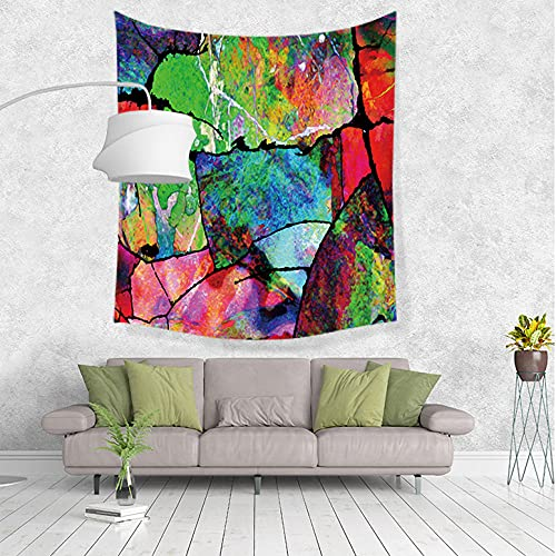 Tapiz Adornos de Arte para Pared de Hogar,Tapiz Mural de Pared de Arte en Color Abstracto, Manta decoración del hogar para Dormitorio, Sala de Estar, Dormitorio-F_200x150cm