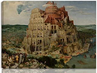 Berkin Arts Pieter Bruegel The Elder Stretched Giclee Print On Canvas-Famous Paintings Fine Art Poster Reproduction Wall Decor-Ready to Hang(The Tower of Babel 2)#NK