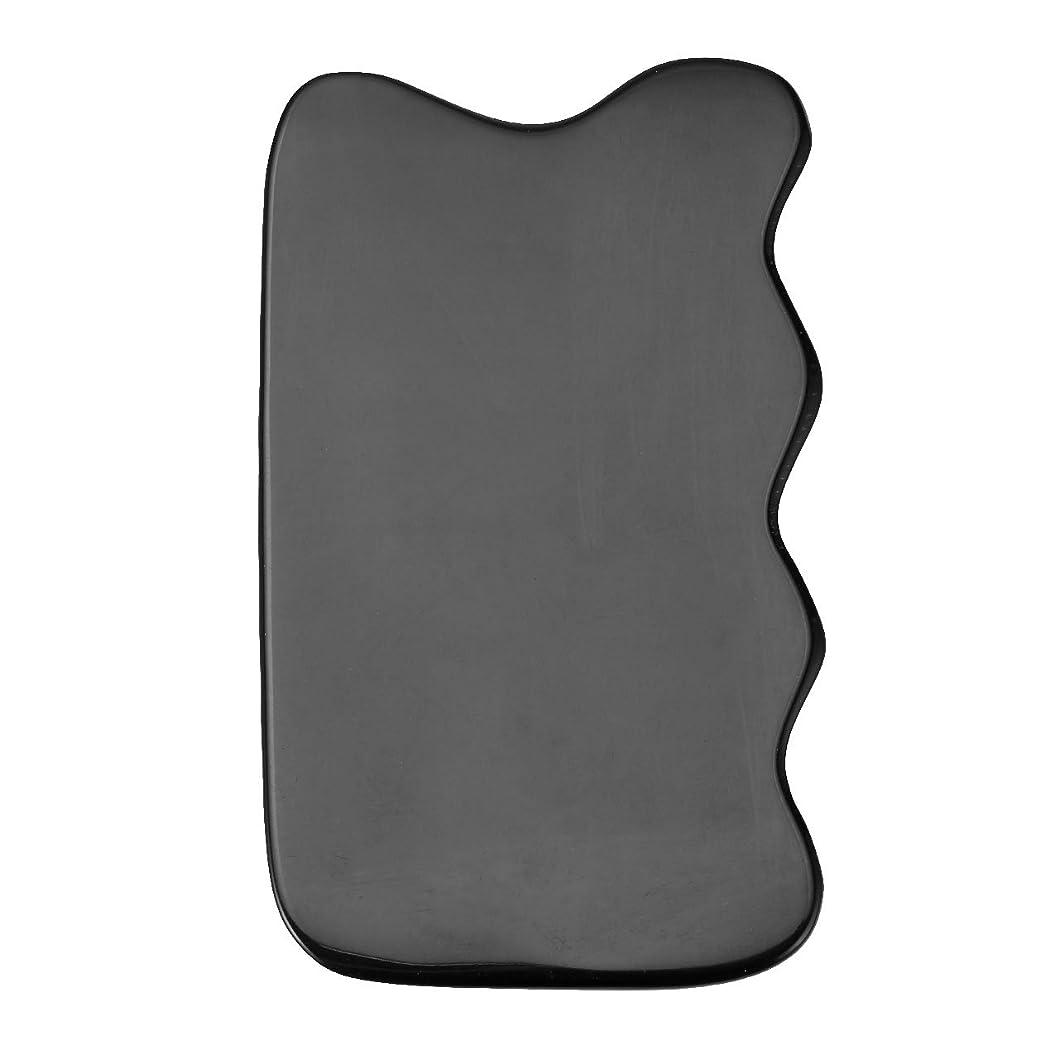 穀物マーカーウィンクJovivi Mak カッサリフトプレート ブラック 牛角 パワーストーン カッサ板 美顔 カッサボード カッサマッサージ道具 ギフトバッグを提供 (波状)