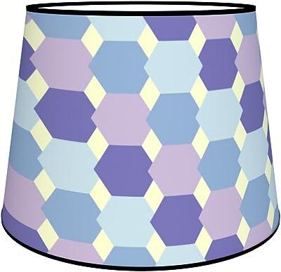 Abat-jours 7111302372375 Conique Fivas Lampadaire, Tissus/PVC, Multicolore