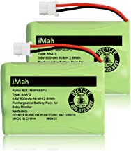iMah Ryme B21 Battery Compatible with Motorola Baby Monitor MBP33XLPU MBP481PU MBP482PU MBP483PU (only fits MBP33S MBP36 MBP36S Newer 800mAh Version) VTech BT207695 VM312 VM3251 VM3252 VM3261, 2-Pack