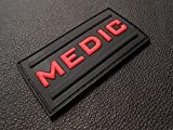 Medic Rubber 3d Pvc Paramedic Emt Ems Tactical Morale Black Ops Red Patch