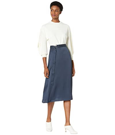 Ted Baker Viedah Knitted Bodice Dress with Exaggerated Sleeve