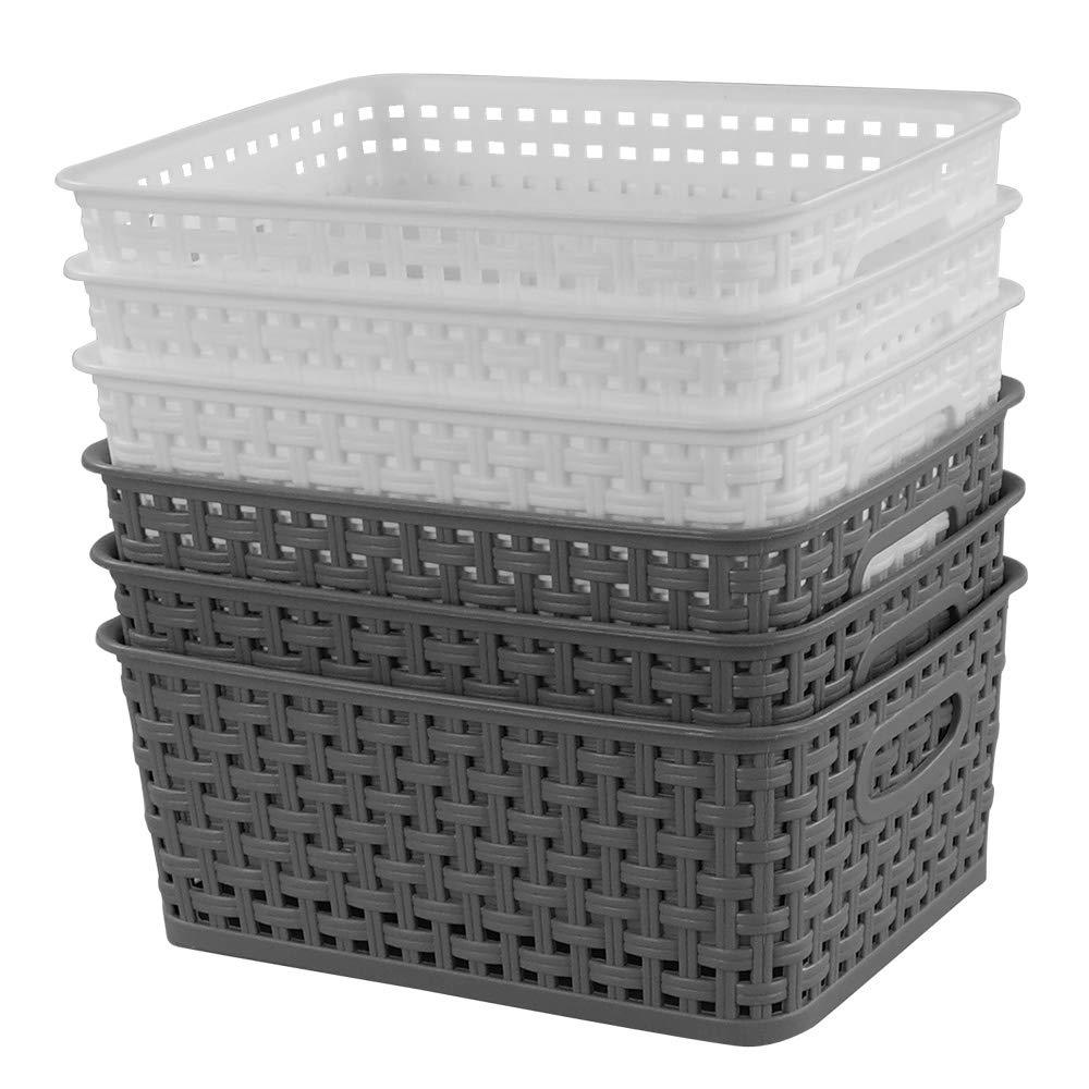 Idomy Plastic Storage Baskets Rectangle