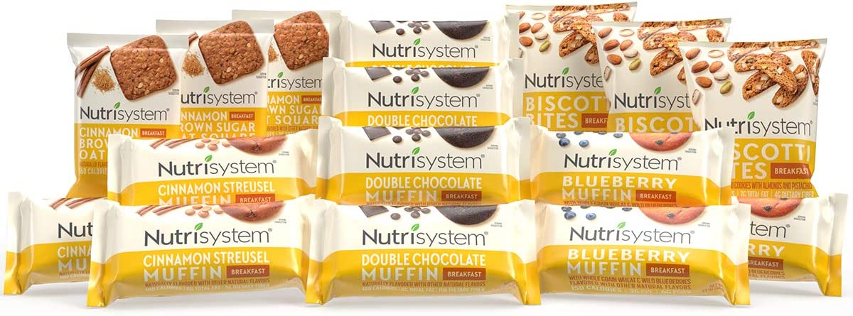 Amazon.com: Nutrisystem® On-The-Go Breakfast Bundle, 16 ct, Variety Pack of  Breakfast Options for Weight Loss : Grocery & Gourmet Food