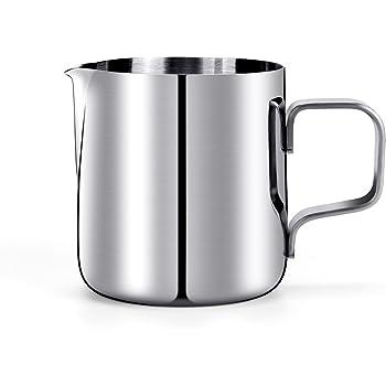 HULISEN Mini Milchkännchen, Edelstahl Milk Pitcher 150ml / 5 fl.oz. Craft Kaffee Latte Milch Aufschäumen Krug