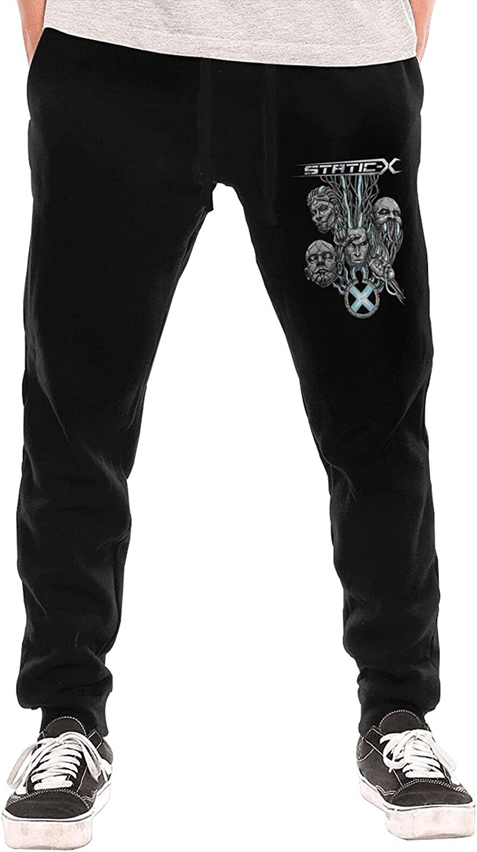 Static X Music Band Men Sweatpants Stylish Jogger Sweatpant Long Pant with Pocket for