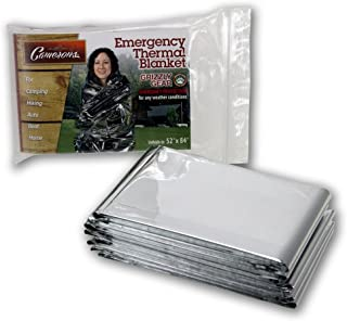 Grizzly Gear Emergency Thermal Blanket 10 Pack Set- 7 x 4 1/3 Ft- Thermal Mylar, Insulated, Heat Resistant, Weatherproof a...