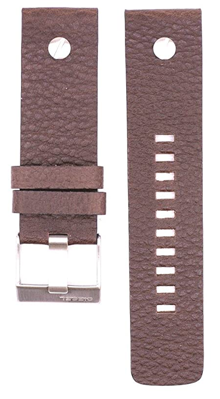 ZTD212 Fit for Diesel DZ7258 Replacement 24mm Brown Leather Watch Band Strap Free Spring BAR Tool DSL133