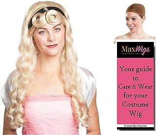 Aurora Sleeping Beauty color BLONDE - Enigma Wigs Fairytale Briar Rose Princess Grimm Bundle w/Cap, MaxWigs Costume Wig Care Guide