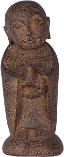 New Age Volcanic Stone Statue Jizo Buddha Brown (each)