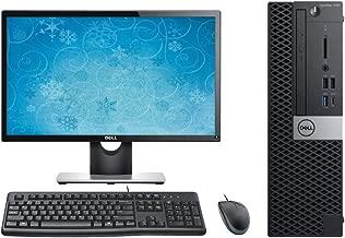 Dell Optiplex 7060 SFF Desktop Computer Bundle, 24
