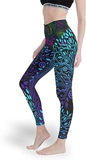 Charzee dam yoga löparbyxor gym tights leggings snabbtorkande bekvämt träd för livet mönster sportbyxor skinny bone