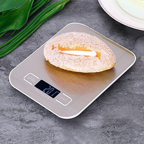 Weehey Báscula de Cocina eléctrica precisa de 5 kg / 1g Báscula...