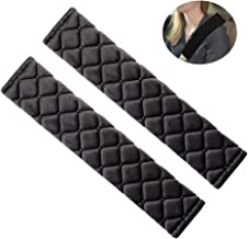 Car Seat Belt Cover Pads, 2 Pack Black Soft Automotive Seat Belt Covers for Adults and Children, Fit Car Seat Belt, Backpack, Messenger Bag Protect Your Neck and Shoulders.