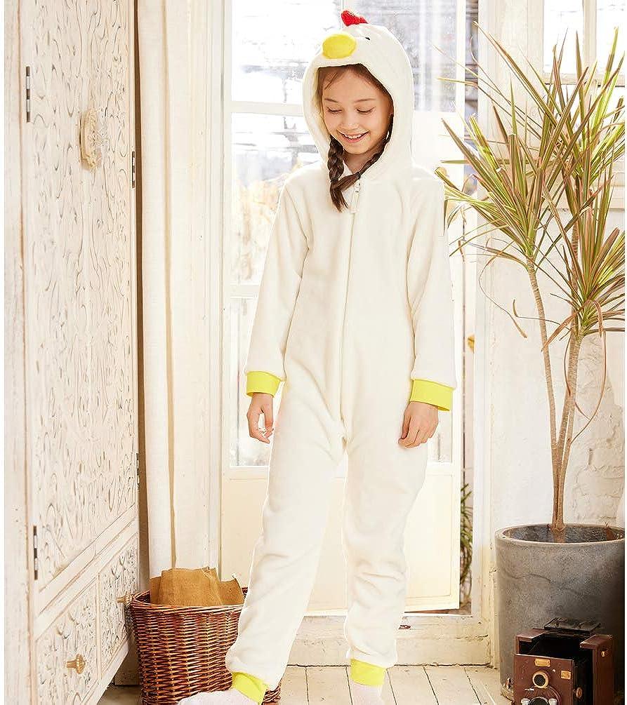 Kids Snug Fit Flannel Chicken Costume Animal Onesie Pajamas for Girls