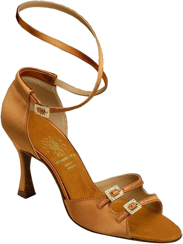 Supadance Womens Latin shoes 1618 with Regular Width and 2.5  Flare Heel