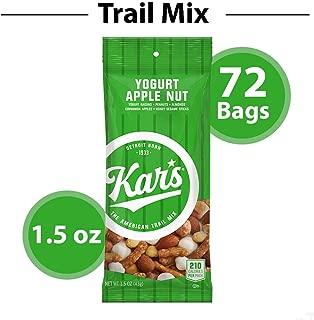 Kar's Yogurt Apple Nut Trail Mix Snacks - Bulk Pack of 1.5 oz Individual Single Serve Bags (Pack of 72)