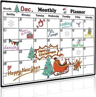 Homein Magnetic Calendar for Refrigerator Stain Resistant Surface Dry Erase Calendar 2020 Monthly Calendar Whiteboard Fridge Calendar Family Planner Refrigerator Magnet Calendar for Kids
