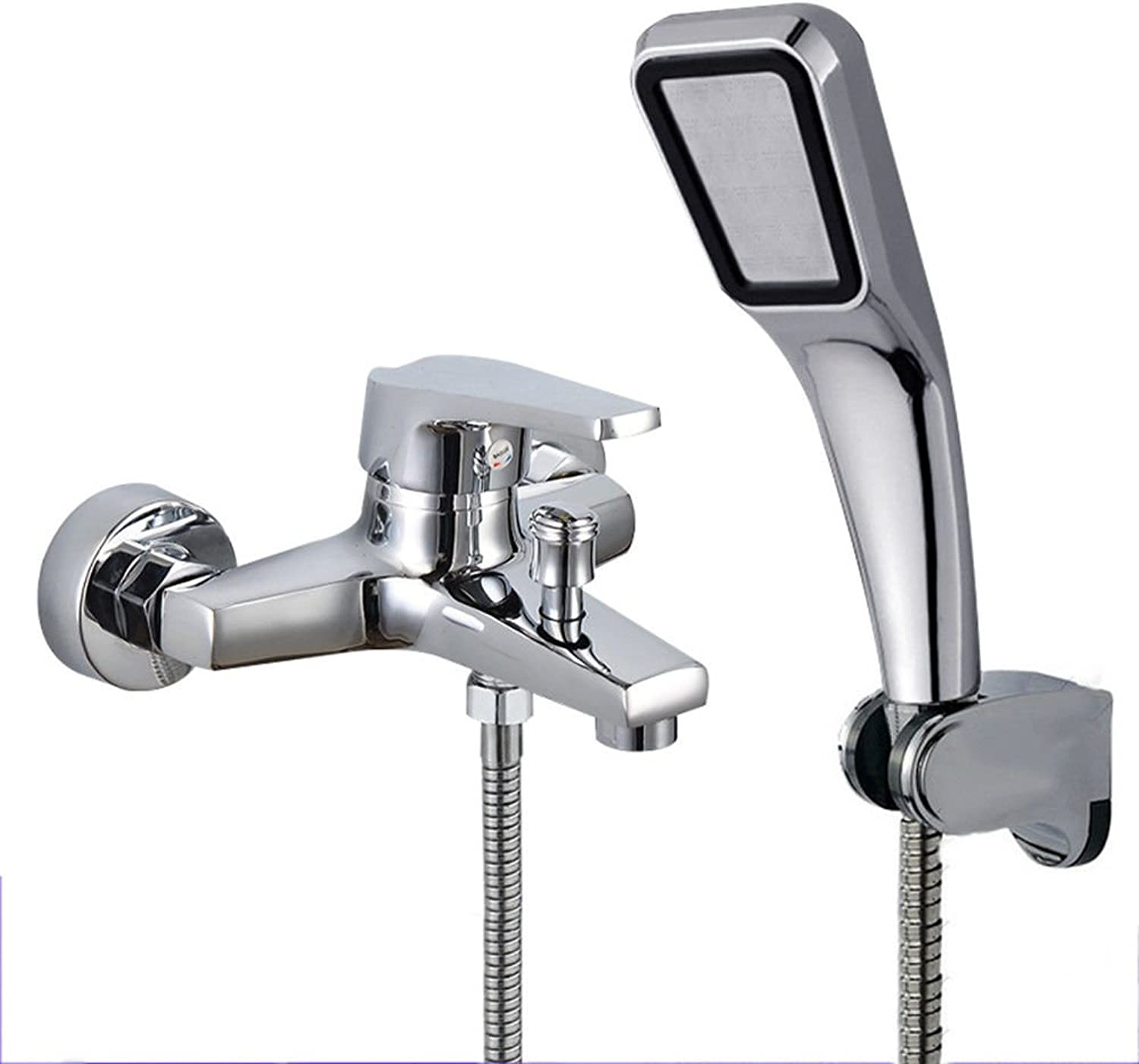 Hlluya Professional Sink Mixer Tap Kitchen Faucet Faucets copper bathroom shower pack hot and cold shower faucet bathroom shower set into the wall mounted handheld shower, B