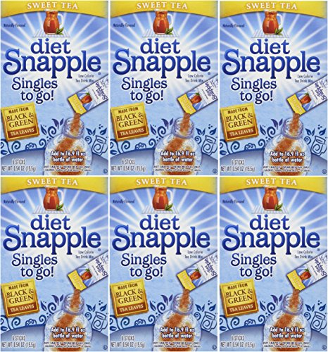 "DIET SNAPPLE ""Sweet Tea"" Singles to go 6 sticks per Pack (Pack - 6)"