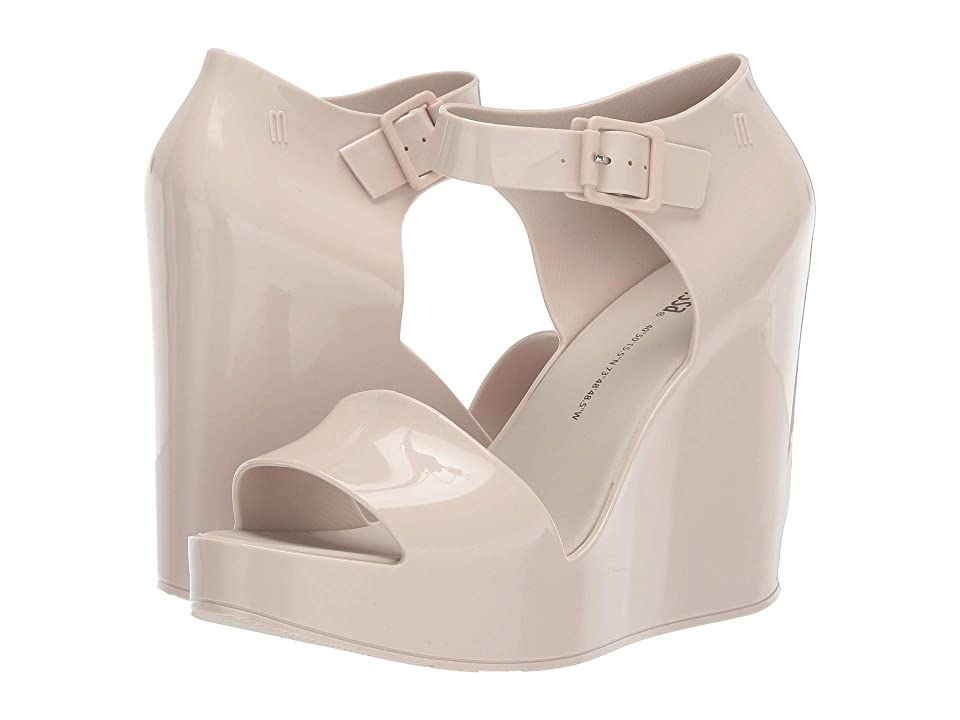 Melissa Shoes Mar Wedge (Beige) Women