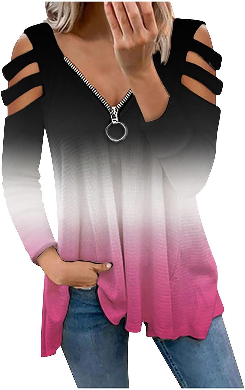 GUOBIOZIY Sweatshirts for Women,Women's Casual Lightweight Long Sleeve Sweatshirt Solid Color Pullover Top Tunic Tees