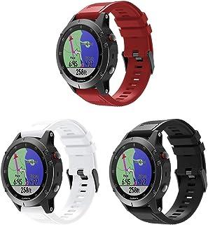Junboer متوافق مع Fenix 5 Watch Bands، 22 مم سريعة صالح لينة حزام استبدال حزام ل Fenix 5/Fenix 5 Plus/Fenix 6/Fenix 6 Pro/...