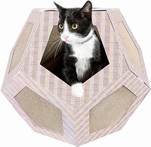 Friends Forever Cat Cardboard Scratcher House Polygon Maze Cats Corner Play Toy Furniture Scratch...