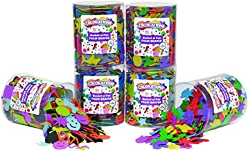 Colorations FMSHAPES Buckets of Fun EVA Foam Shapes, Set of 6 Themes, with Storage, for Kids, Arts & Crafts, Craft Project...