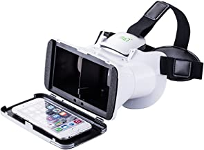 Megadream Virtual Reality Glasses Google Cardboard VR BOX for 4~6 inch Smartphone, iPhone X 8Plus 8 7Plus 7 6s Plus, Samsung Galaxy S8+ S7 Edge Note 8, LG Nexus, HTC, Moto other IOS Android Cellphones
