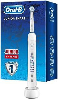 Oral-B Junior Smart Elektrische Zahnbürste für Kinder ab 6 Jahren, Smart-Coaching App & visuelle Andruckkontrolle für extr...