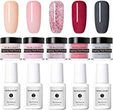 NICOLE DIARY Dip Nail Powder Nail Starter Kit Acrylic Dipping Nail Powder System Clear Liquid Acrylic Pigment for French Nail Manicure Set (Comes with Base, Activator, Top, Bond and Brush Saver)
