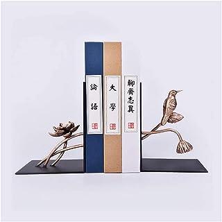 Decorative Bookends, Book Stopper for Books, Ambipolar Decorative Bird Theme Bookend, Heavy Duty Cast Iron, Vintage Shelf ...