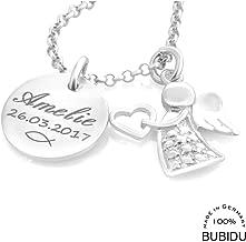 Taufset Taufring Schutzengel Anhänger Hände NEU echt Silber Gravur Taufe Geburt