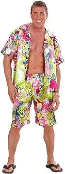 Estilizado Disfraz Beachboy con Camisa Hawaiana y pantalón ...
