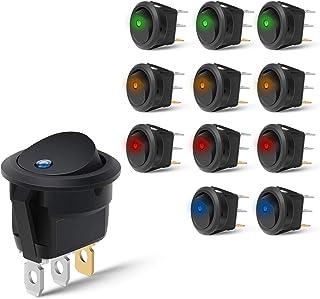 Nilight 90013L - Interruptor LED Redondo de 12 V para Coche,
