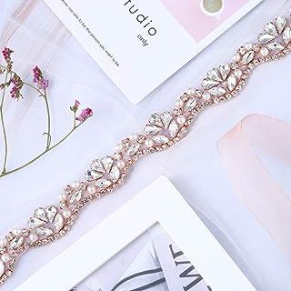 Bridal Wedding Appliques 1 Yard Sewn Iron on Rhinestone Belts Sashes  Sparkle Thin lightweight for DIY 74c6674640a3