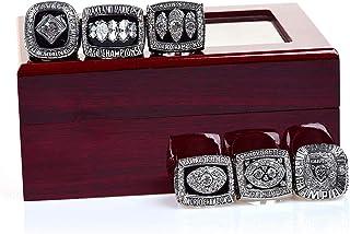 HZIH CopiarRing Champion, Oakland Raiders Championship Anillos Sliver Conjunto Completo de Regalo de réplica con Caja