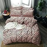 CAOCHENXI 3/4 Stück King Size Fink Lover Bettwäsche-Set Familie enthält Bettlaken Tröster gestreiften Kissenbezug Kind Mann Geschenk