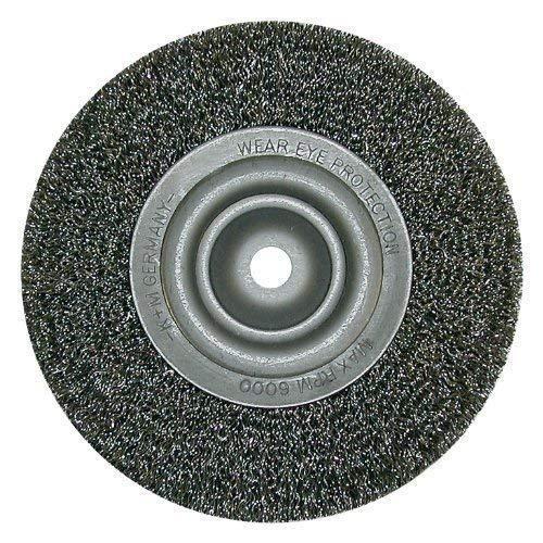 Lessmann 376142 Brosse ronde Drm 250 mm de large 30-35 mm de tube 80 mm de fil d'acier STA Alésage 0,20 mm 50,8 mm avec rainure double 13 x 7 mm et bague de réduction 4 + jeu 1