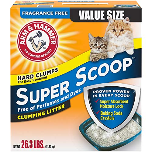 Arm and Hammer Super Scoop Clumping Litter, Fragrance Free 26.3lb