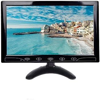 10.1 Pulgadas LCD Monitor, 1024x600 HDMI Pantalla con Control Remoto & Entrada de HDMI/Audio/VGA/AV/para PC,CCTV,DVR,DVD,Cámara de Seguridad: Amazon.es: Industria, empresas y ciencia
