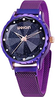 Fashion Women's Watch, Ladies Starry Sky Watches, Elegant Magnetic Buckle Bracelet Watches for Women