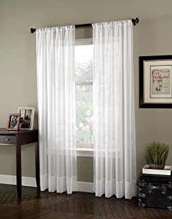 Curtainworks Soho Voile Sheer Curtain Panel, 59 by 120
