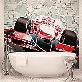 Formel-1-Rennwagen Bricks - Forwall - Fototapete - Tapete - Fotomural - Mural Wandbild - (2774WM) - XL - 208cm x 146cm - VLIES (EasyInstall) - 2 Pieces