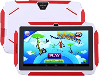 SHIHUI Cellphone Q98 Kids Game Tablet PC, 7.0 inch, 1GB+8GB, Android 9.0 Allwinner A50 Quad Core, Support WiFi/Bluetooth/TF Card/G-sensor/Dual Camera (Black)(White) (Color : White)