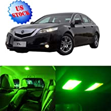SCITOO LED Interior Lights 14pcs Green Package Kit Accessories Replacement Fits for 1996-2003 Acura TL